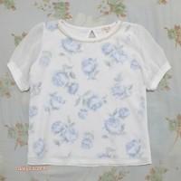 preloved floral print top import / atasan blouse korean look murah