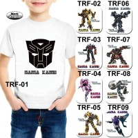 "Kaos / Baju Anak ""TRANSFORMERS "" Free cetak nama"
