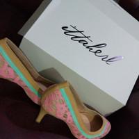 sepatu , ittaherl shoes bianca size 37 pink 90mm new merah muda brukat