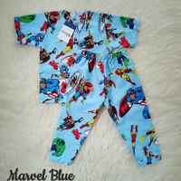 piyama anak katun catra motif marvel biru