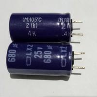 500 PCS KAPASITOR / ELCO 680uf 680 uf 25V