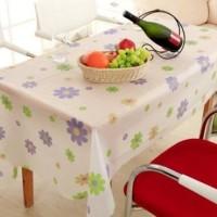 Taplak Alas Meja Anti Air 130x180 Waterproof PEVA Table Cloth sarung