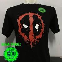 Baju Kaos Pakaian SUPERHERO/Dc DEADPOOL LOGO HD