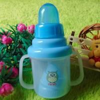 training cup botol susu anak bayi NINIO 3 in 1 biru