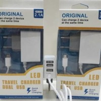 Travel Charger GMX LED 2 .1A Dual Usb + 3 Output - Quick Fast Charging