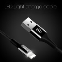 KABEL DATA IPHONE LIGHTNING LED BASEUS SHINING CABLE 1M (HOT)
