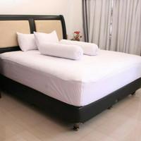 SPREI POLOS COTTON HK 120 X 200 X 20 NO3 - PUTIH /SPREI HOTEL /LOSMEN