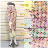 Rok Lilit Serut R071 Motif Batik Warna Rainbow | Wrap Skirt | Bawahan