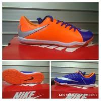sepatu futsal Nike magista orange kombinasi biru sol karet tebal