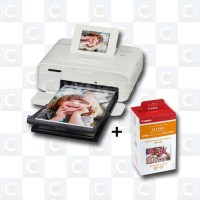 FRA176 Canon SELPHY CP1200 Photo Printer White + Paper RP-108