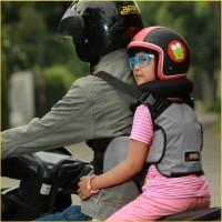 Sabuk Bonceng Motor Anak Safety Apro Multi Fungsi - Abu