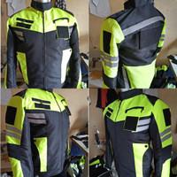 jaket taslan polisi/formal polos tanpa bordir
