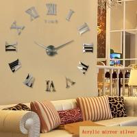 Jam Dinding Raksasa DIY 80-130cm Diameter - WLCS10070 - Silver