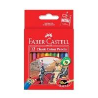 Pensil Warna Faber Castell 12 Warna Pendek Classic
