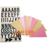 Bunting flag custom pink/ banner DIY/ banner stiker / banner flag HBD