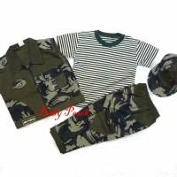 Setelan Baju Anak Bayi Army / tentara / ABRI dengan Rompi CP