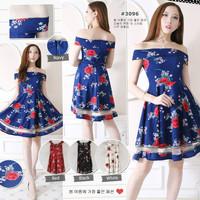 Short Dress//Gaun pendek Sabrina Bunga