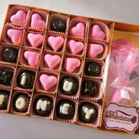 chocolate ucapan I love u honey + mini buket S35B