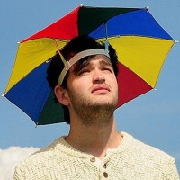 Topi Payung -Kepala Headband Umbrella Sun Shade - Umbrella Hat
