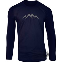 kaos lengan panjang pria wanita raglan 3/4 long sleeve tshirt new 197z