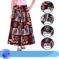Celana Kulot Anak Usia 6-10Tahun Bahan Katun Linen motif