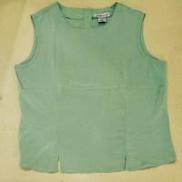 sleeveless blouse hijau muda - Hijau muda, L