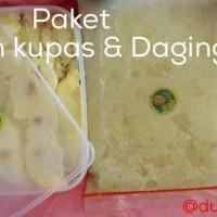 Daging Durian & Durian Kupas - Paket Durian Kupas & 1 Kg Daging Durian