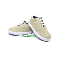 Sepatu Anak Laki-Laki Murah Trendy Casual Stylist Cream Karet