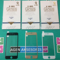 Tempered Glass K-BOX iPhone 7 7G 4.7 inchi FULL COVER list Warna