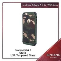 Shockproof Case Army Series PC+TPU for Iphone 5/5G FREE Berkualitas
