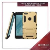 Case Armor Iron Man Xiaomi Mi4i Hybrid Dual Layer Stand Murah