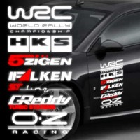 sticker mobil iklan sponsor set sticker wrc hks greedy oz racing
