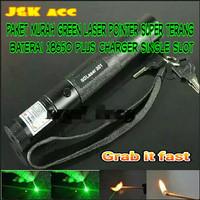 Paket laser pointer hijau super terang 5 KM-presentasi-senter darurat