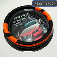 Aksesoris Cover Stir Setir Sarung Toyota Agya ORANGE