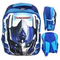 Tas Ransel Sekolah SD Transformer Optimus Prime 3D Timbul Hard Cover