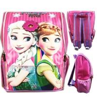 Tas Ransel Sekolah Anak TK Frozen Elsa Pita 3D Timbul Jepang