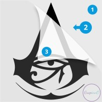 Decal Sticker Macbook Apple Assassin Creed Origin Video Game Stiker