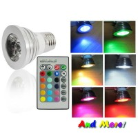 Bohlam Lampu LED RGB with Wireles Remote Kontrol - LED Color Changing