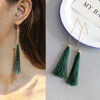 Anting Korea Retro Long Chain Tassel Earrings Import dan Berkualitas