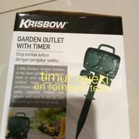 krisbow stop kontak kebun ip44 dengan pengaturan waktu