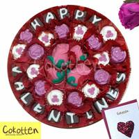 Cokelat Kata Ucapan Hari Valentine dalam toples pipih besar isi banyak