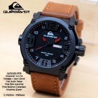 Jam Tangan Pria Quiksilver Kulit Hitam 3 Warna Premium RC