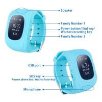 baru Cognos Smartwatch Q50 Kids Watch GPS Sim Card Smart Watch