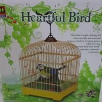 Mainan Burung Sangkar Besar Heartful Bird Bunyi Gerak Lucu