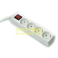 krisbow stop kontak 4 socket - putih
