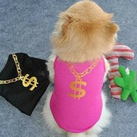 Baju anjing tshirt kucing kaos hewan motif dollar hiro peto