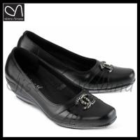 sepatu pantofel wanita formal kulit resmi low heels kantor kerja cewek