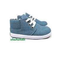 Sepatu Anak Laki Cowok Sneaker Denim Casual Trendy by SHUKU
