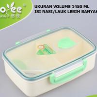 Kotak makan 3 sekat BPA Free Yooyee #315