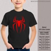 [KAOS SUPERHERO ANAK] baju distro SPIDERMAN LOGO - BLACK keren lucu